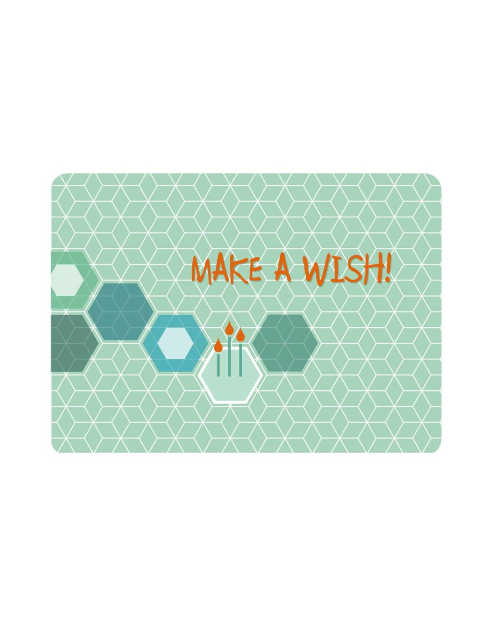 Postkaart Make a wish!