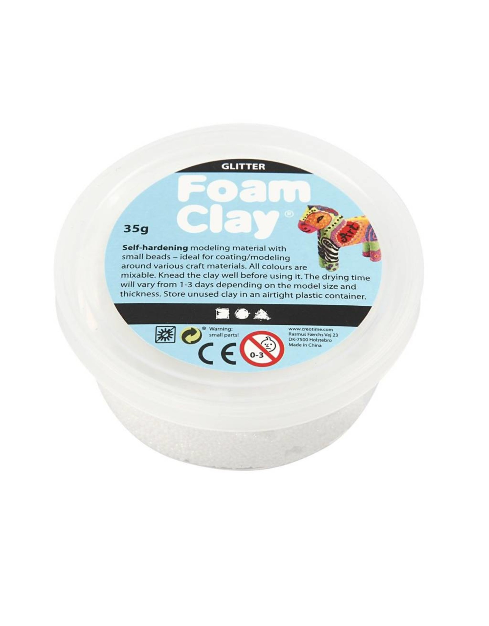 Foam Clay® 35g glitter wit