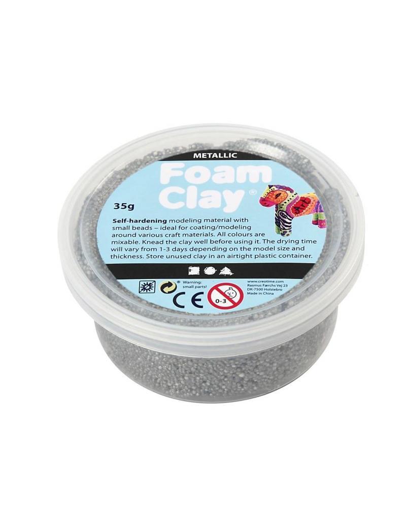 Foam Clay® 35g metallic zilver