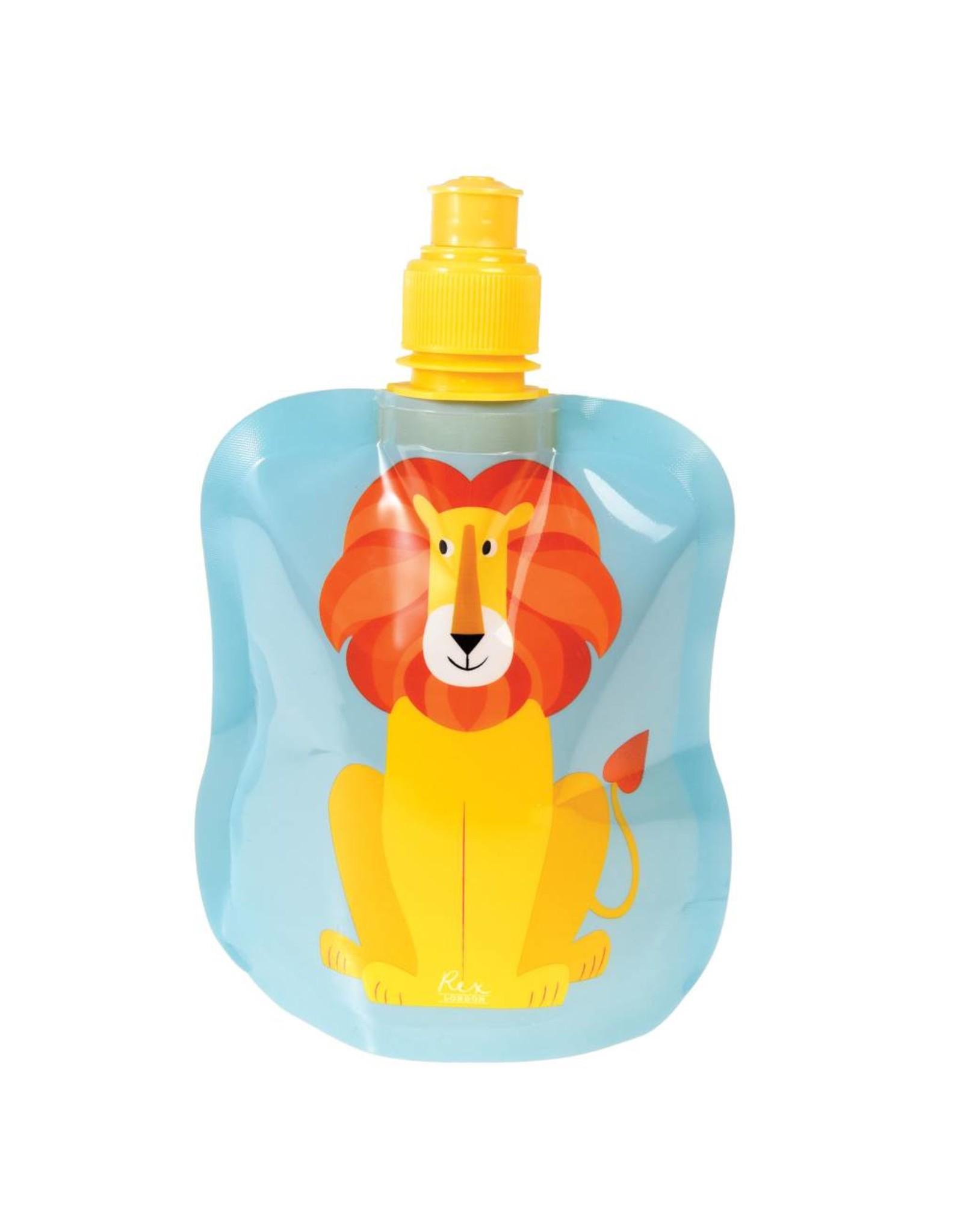 Opvouwbare drinkfles leeuw