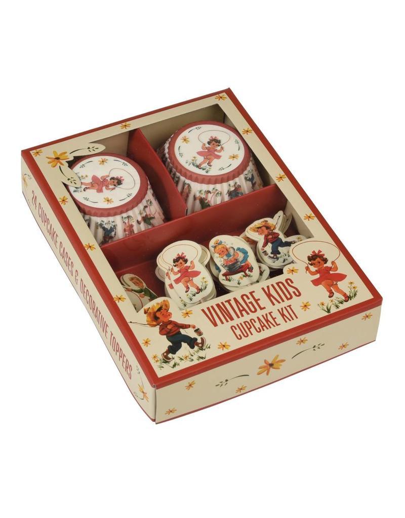 Setje cupcakes vintage kids