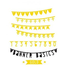 Letterbanner extra goud