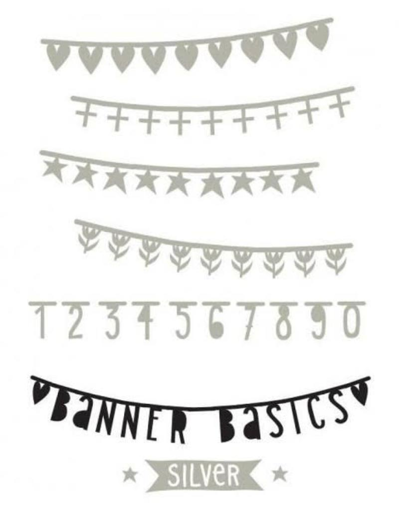 Letterbanner extra zilver