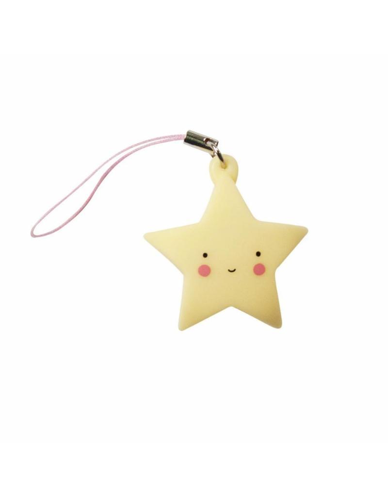 Sleutelhangertje ster geel