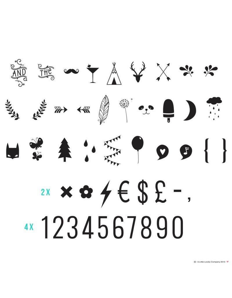 Letterset lightbox cijfers & symbolen