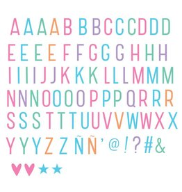 Letterset lightbox pastel