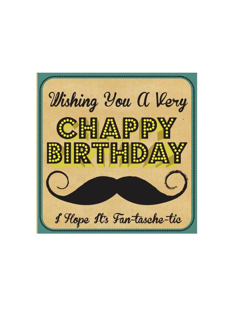 Kaartje met enveloppe Chappy Birthday