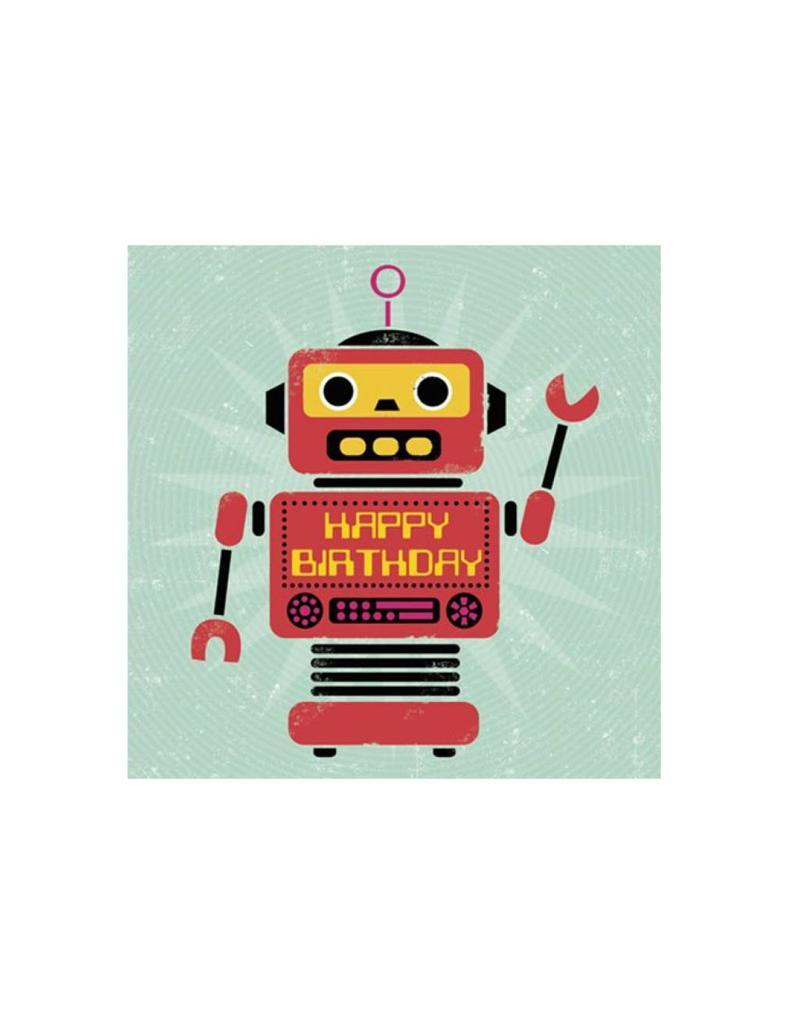 Kaartje met enveloppe robot