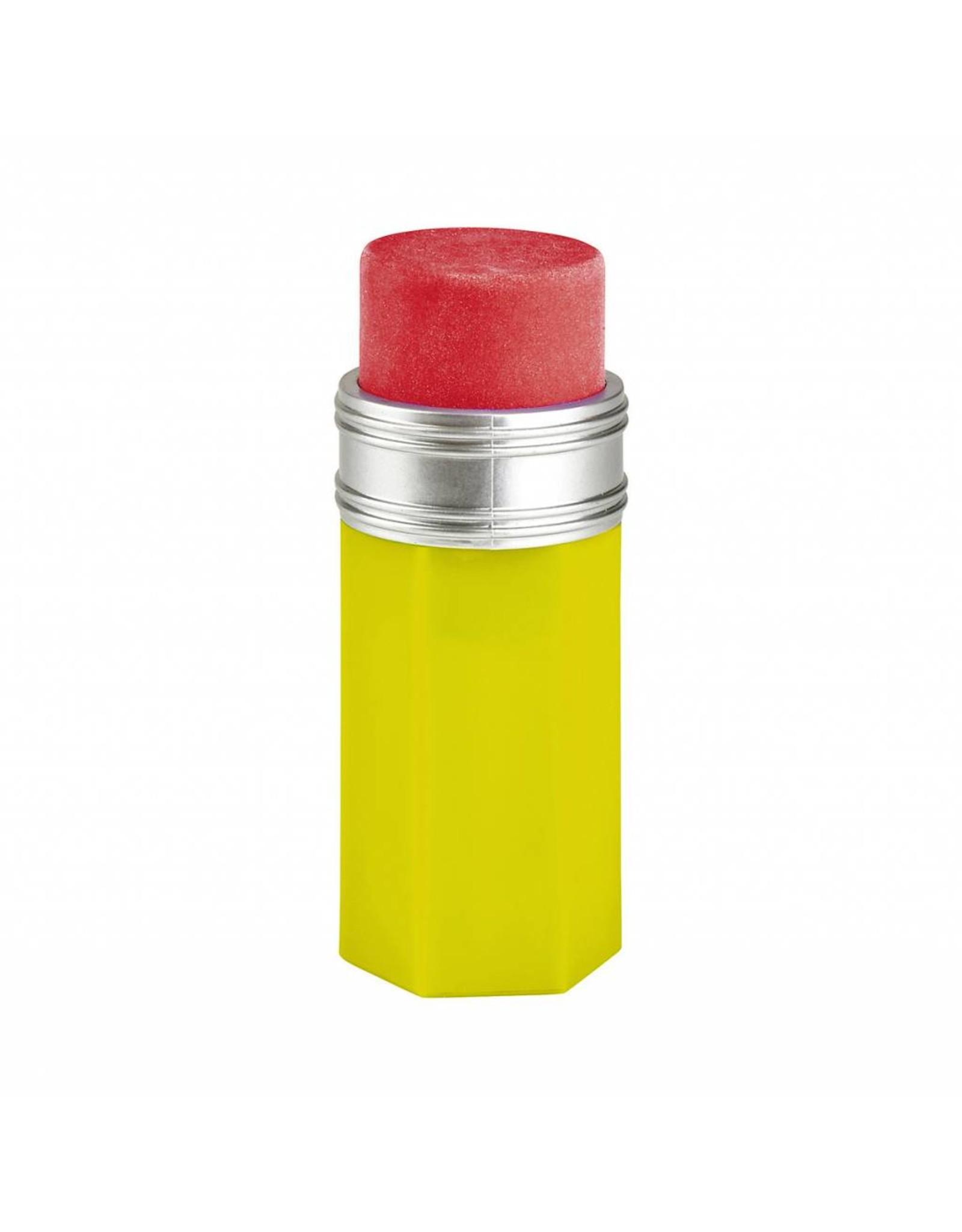 Slijper & gom potlood geel