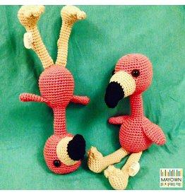Gehaakte flamingo