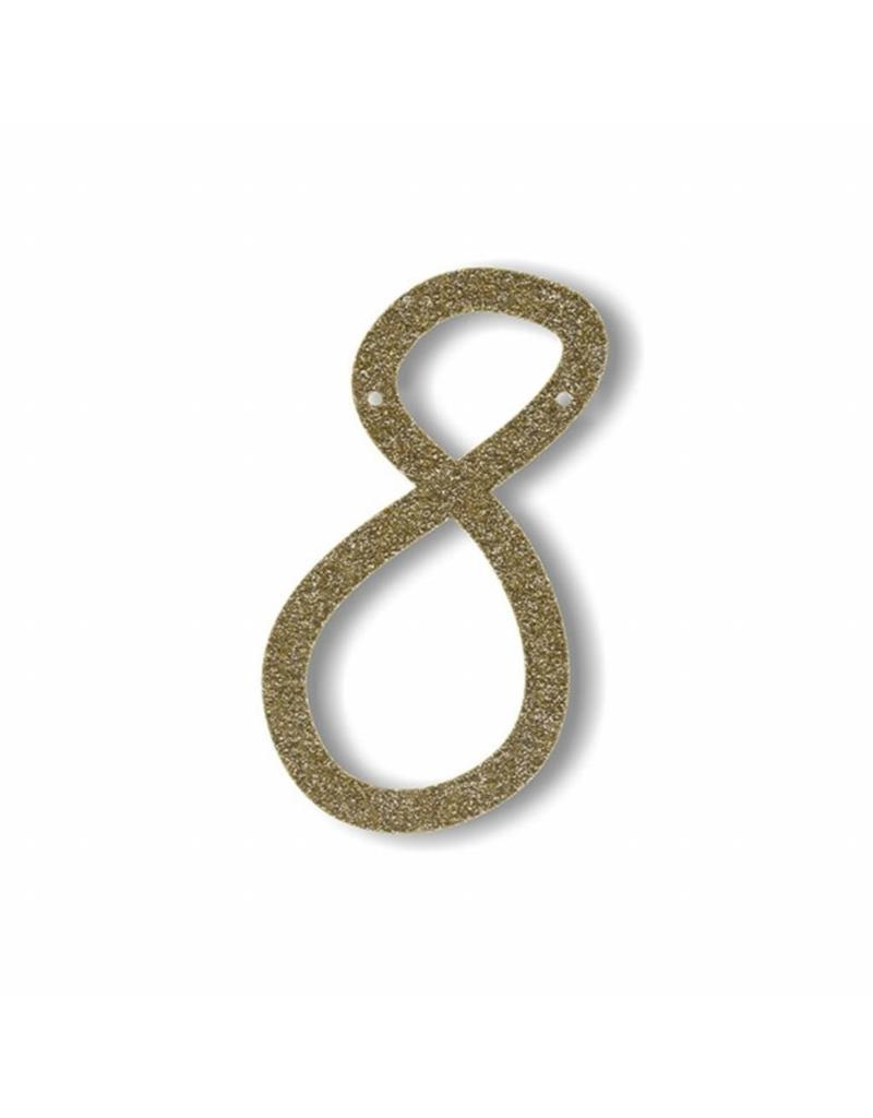 Gouden letter 8