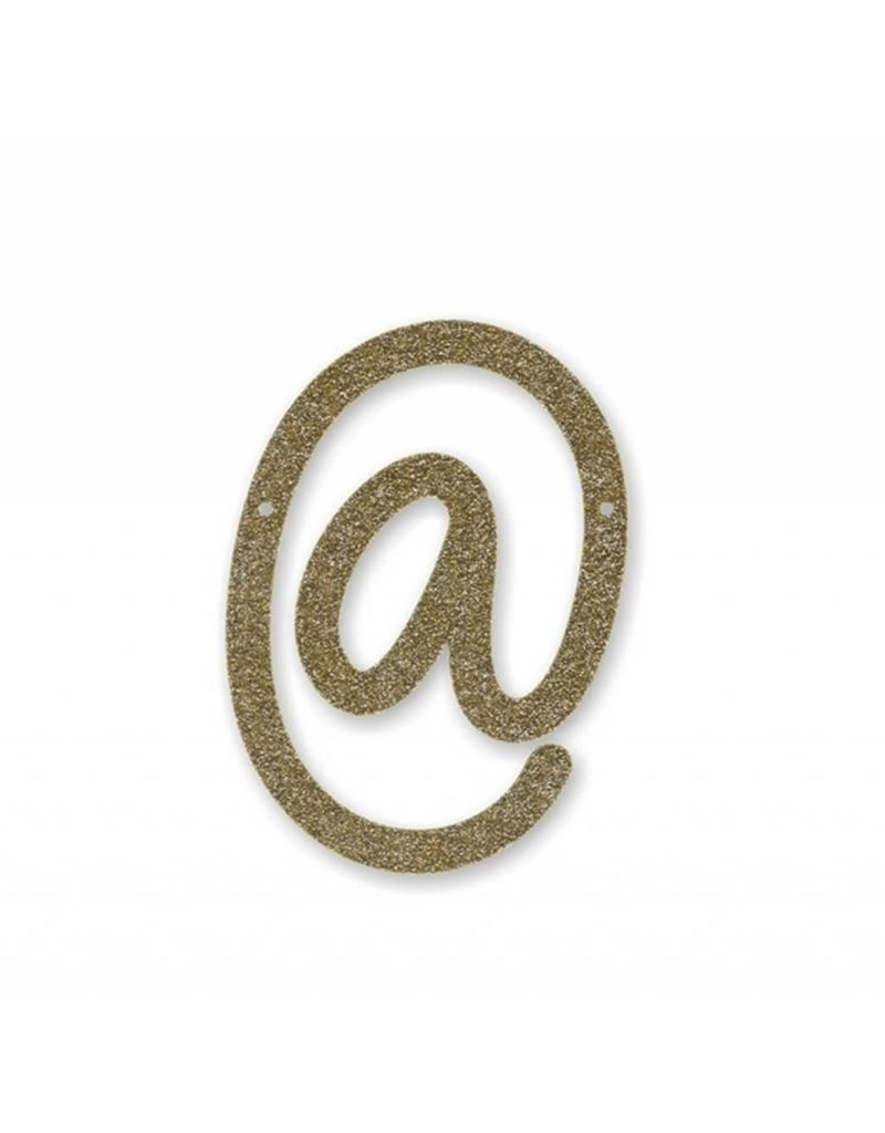 Gouden letter @