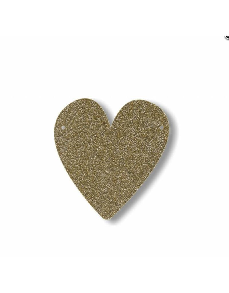 Gouden letter hart