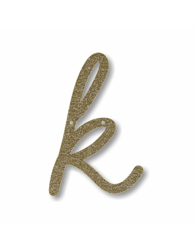 Gouden letter K