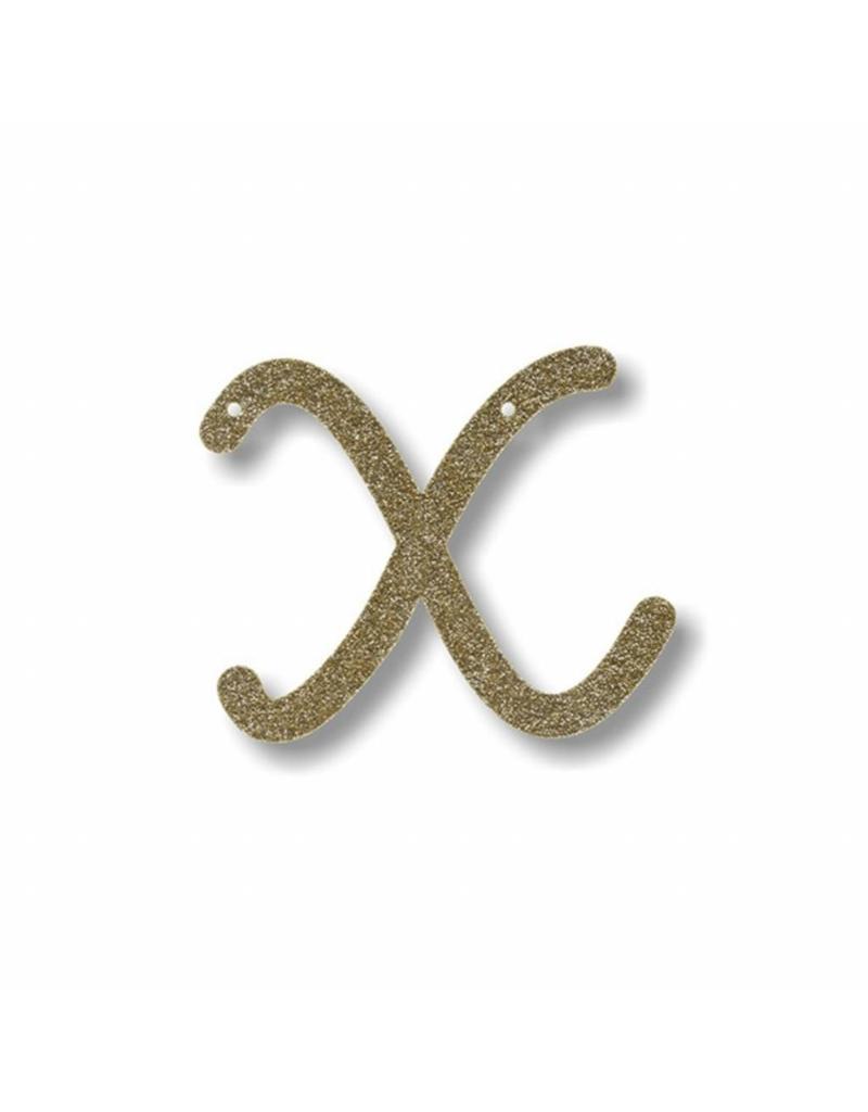 Gouden letter X