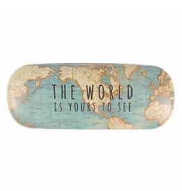 Brillendoos wereldkaart