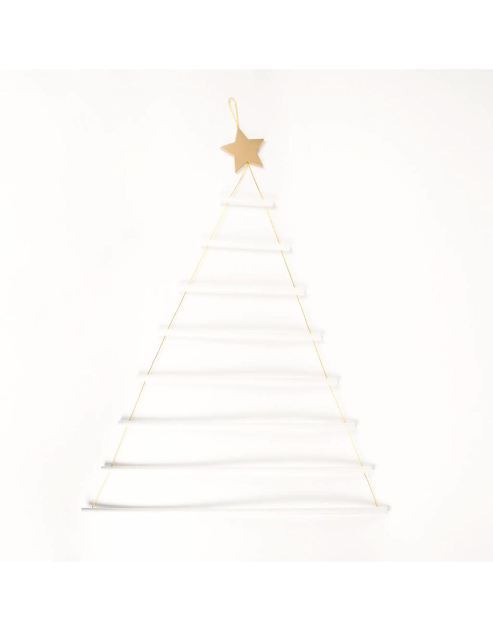 Houten versiering Kerstboom