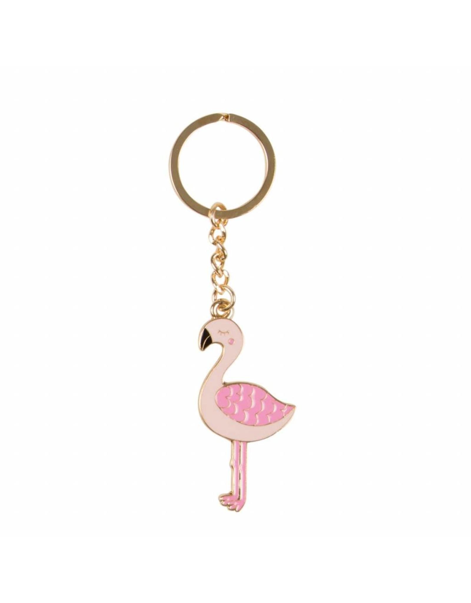 Sleutelhanger email flamingo