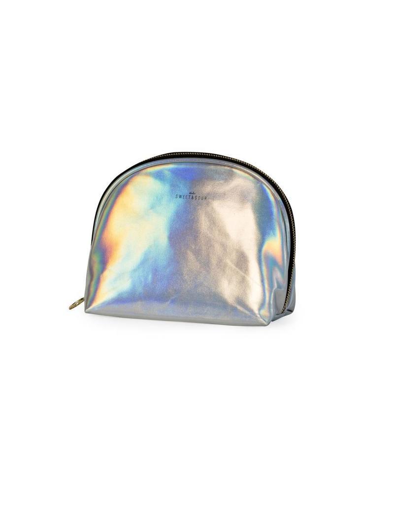 Toiletzak zilver