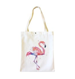 Shopper canvas flamingo