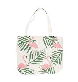 Shopper canvas flamingo ecru