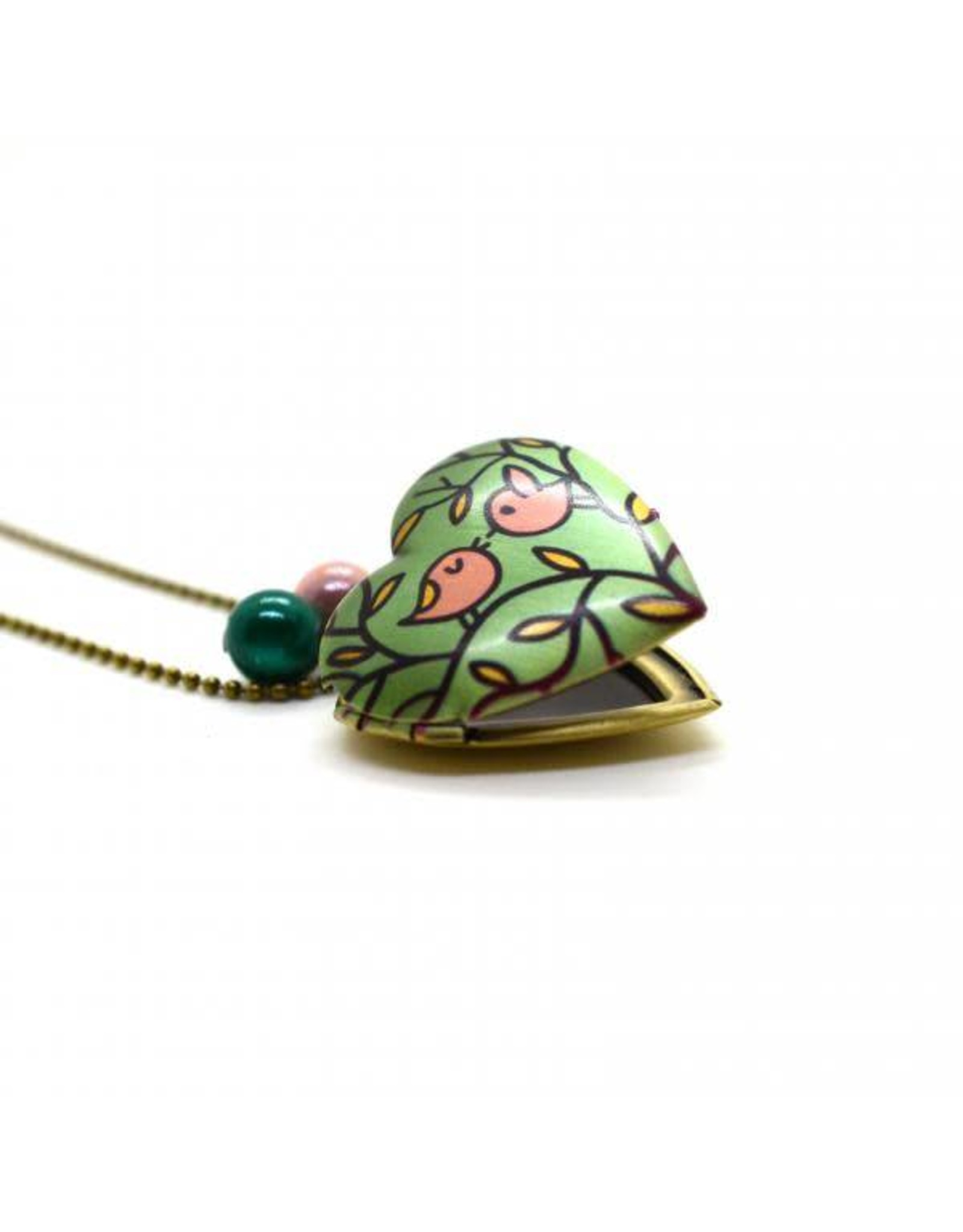 Locket hart vogels