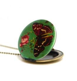 Locket vlinder groen
