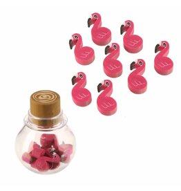 Gommetjes flamingo