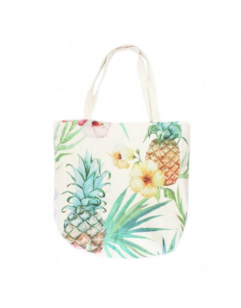 Shopper canvas ananas