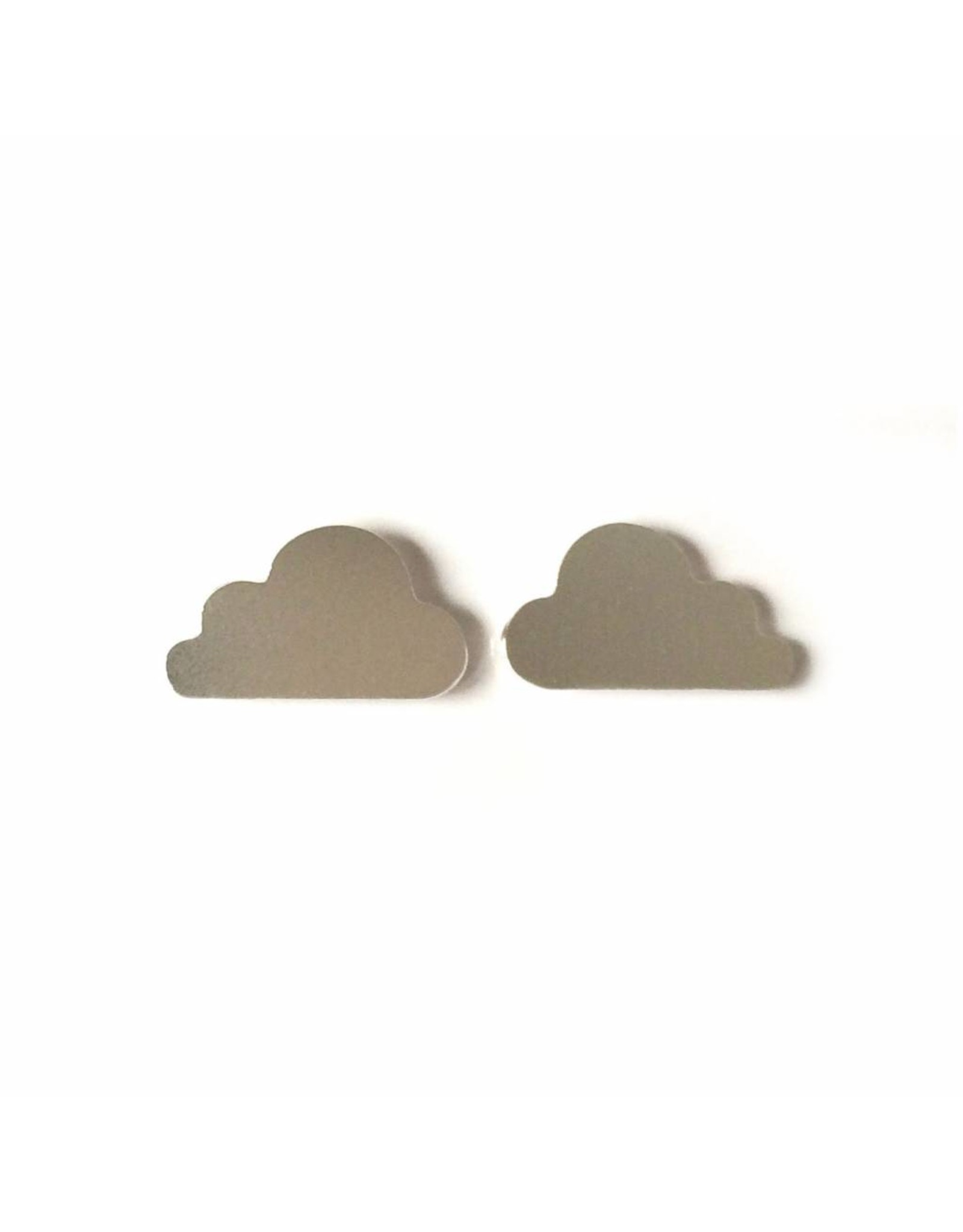 Stekertjes wolk zilverkleurig