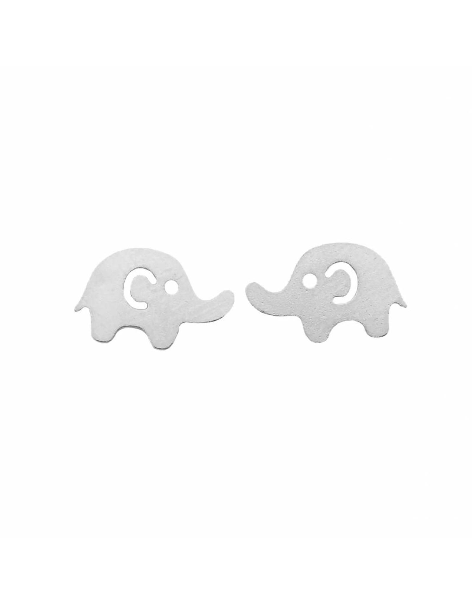 Stekertjes olifant zilverkleurig