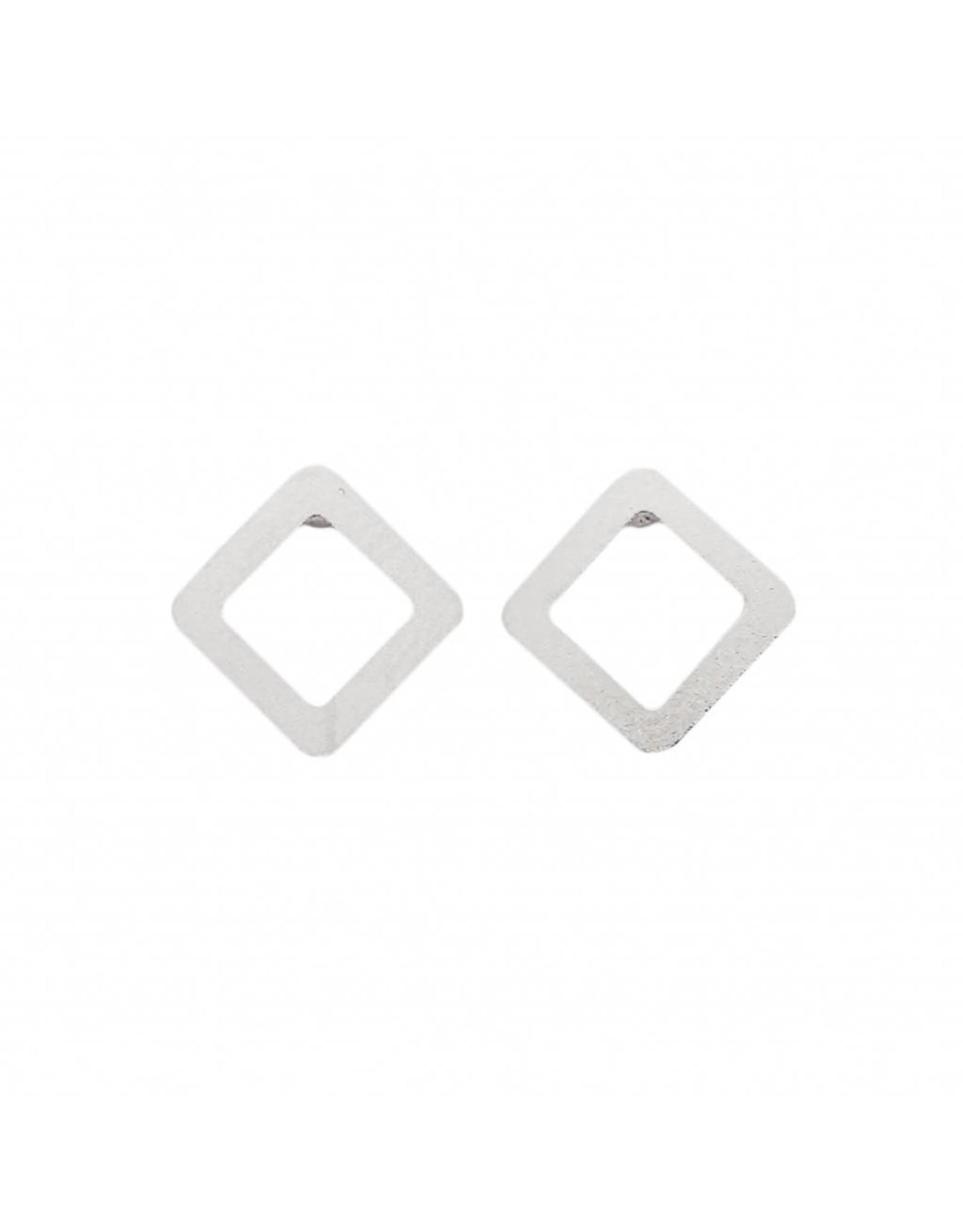 Stekertjes vierkant open zilverkleurig