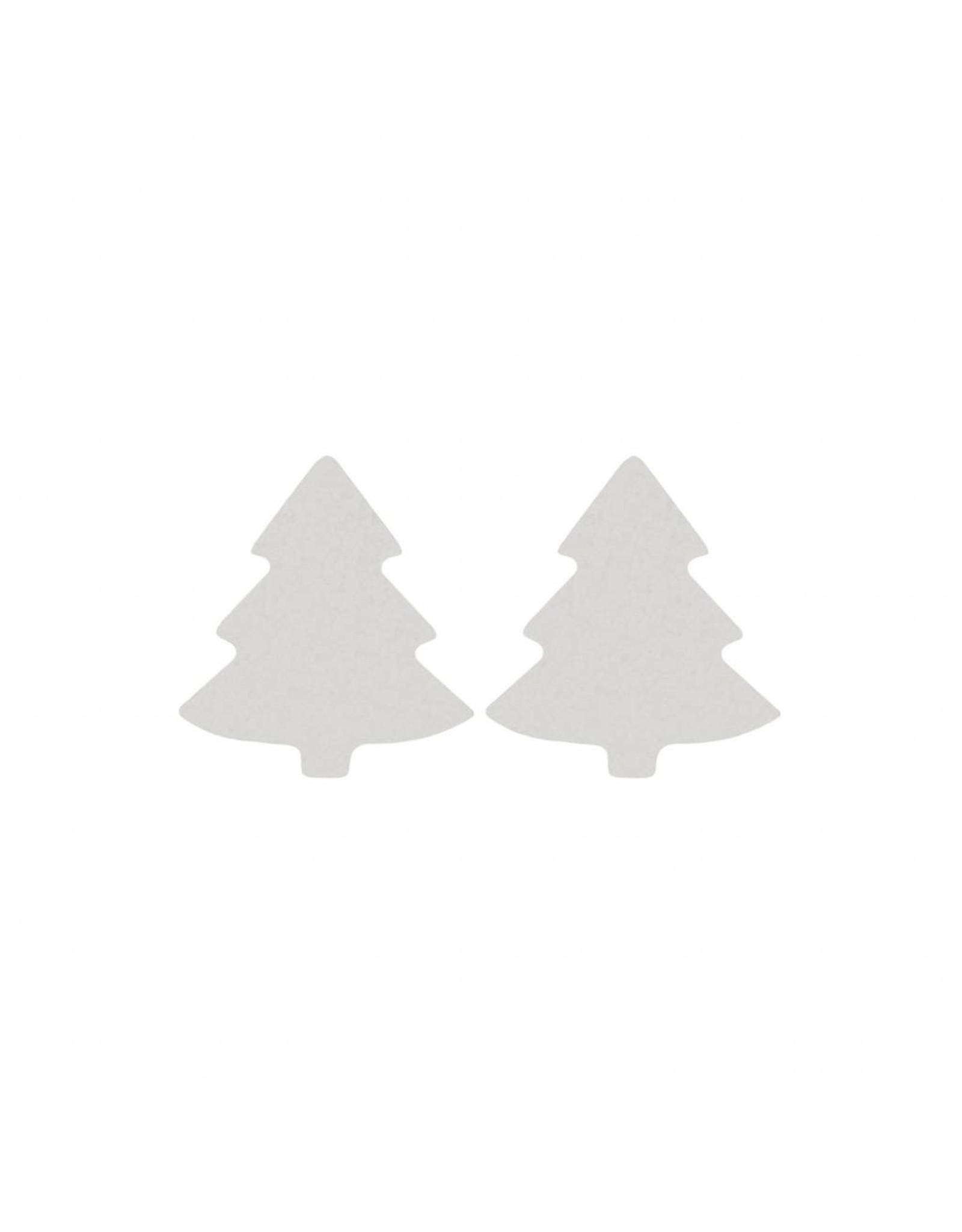 Stekertjes kerstboom zilverkleurig
