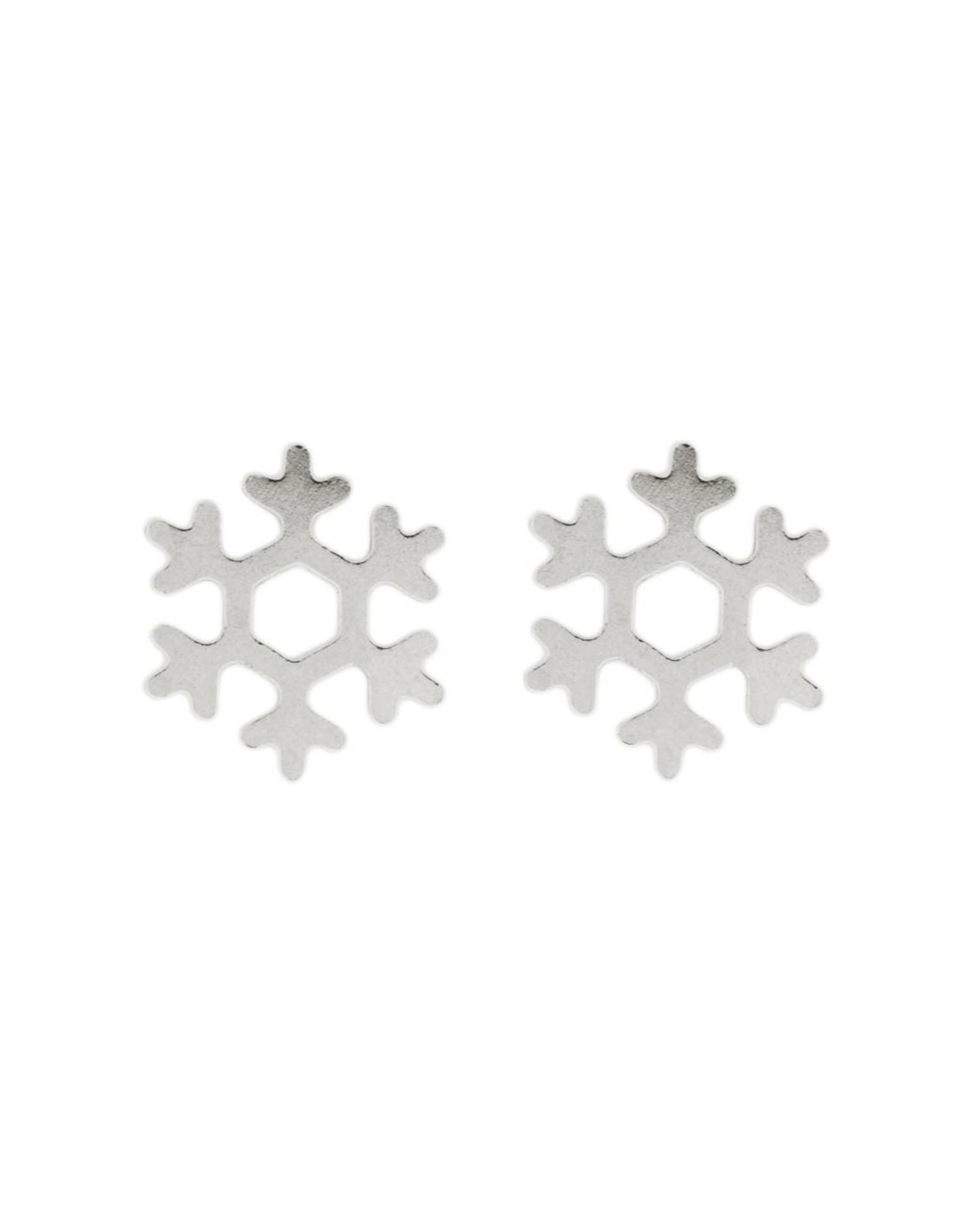Stekertjes sneeuwvlok zilverkleurig