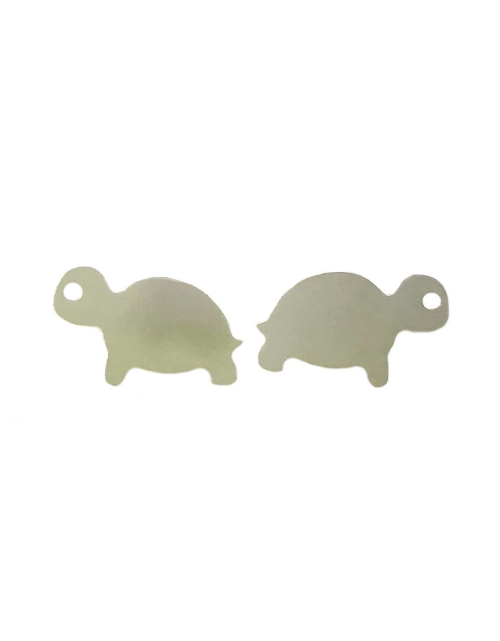 Stekertjes schildpad zilverkleurig