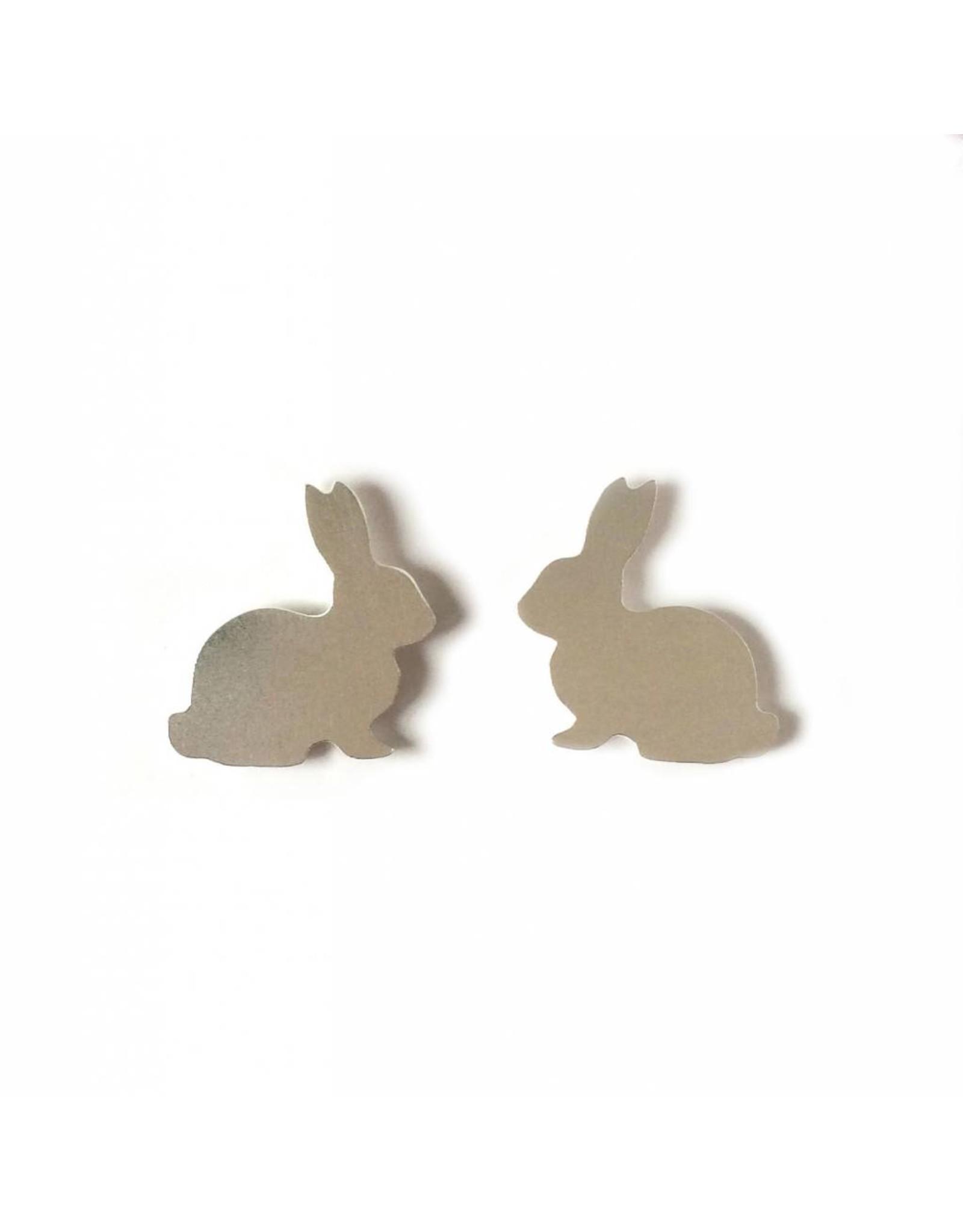 Stekertjes konijn zilverkleurig