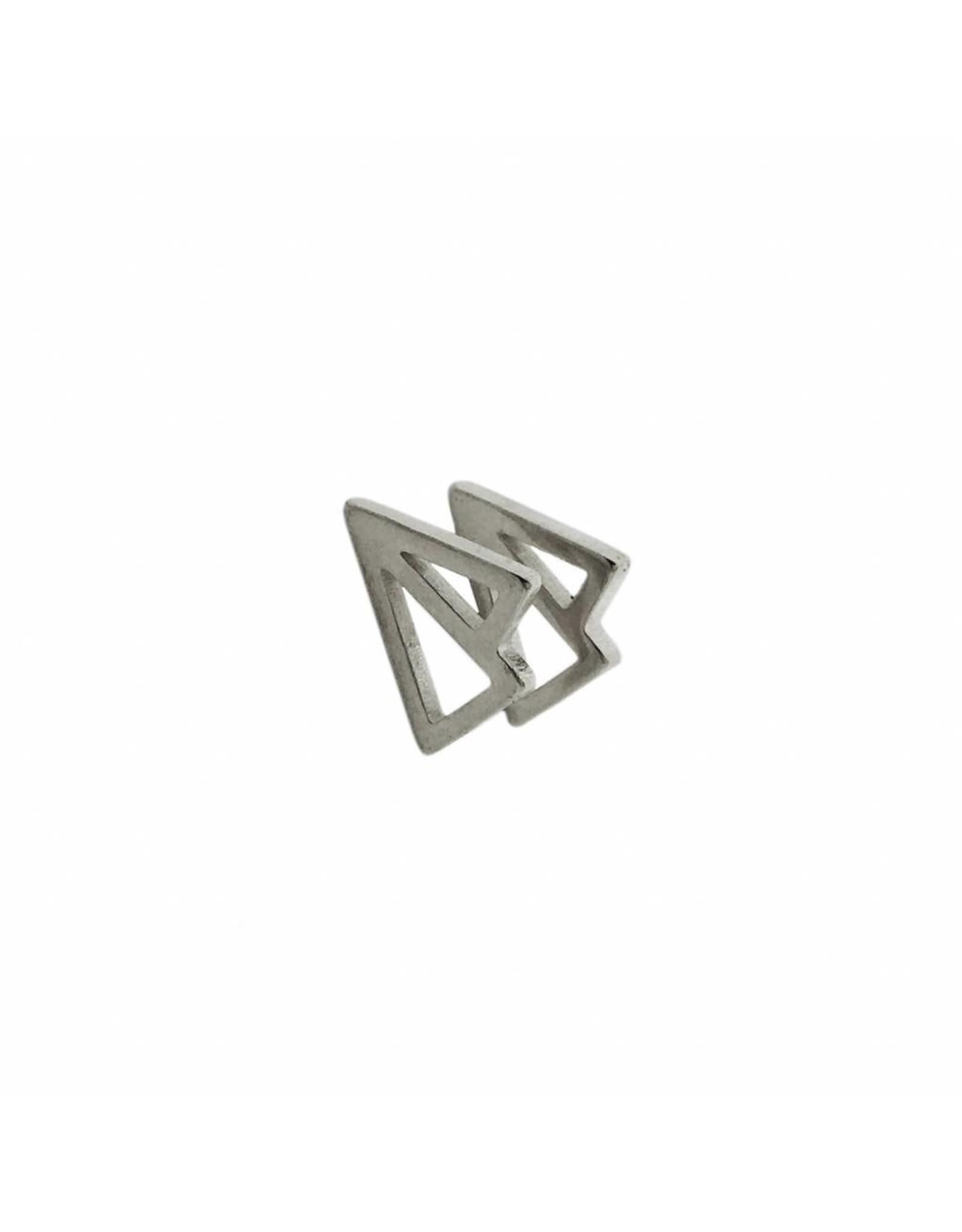 Stekertjes 3D vliegertje zilverkleurig