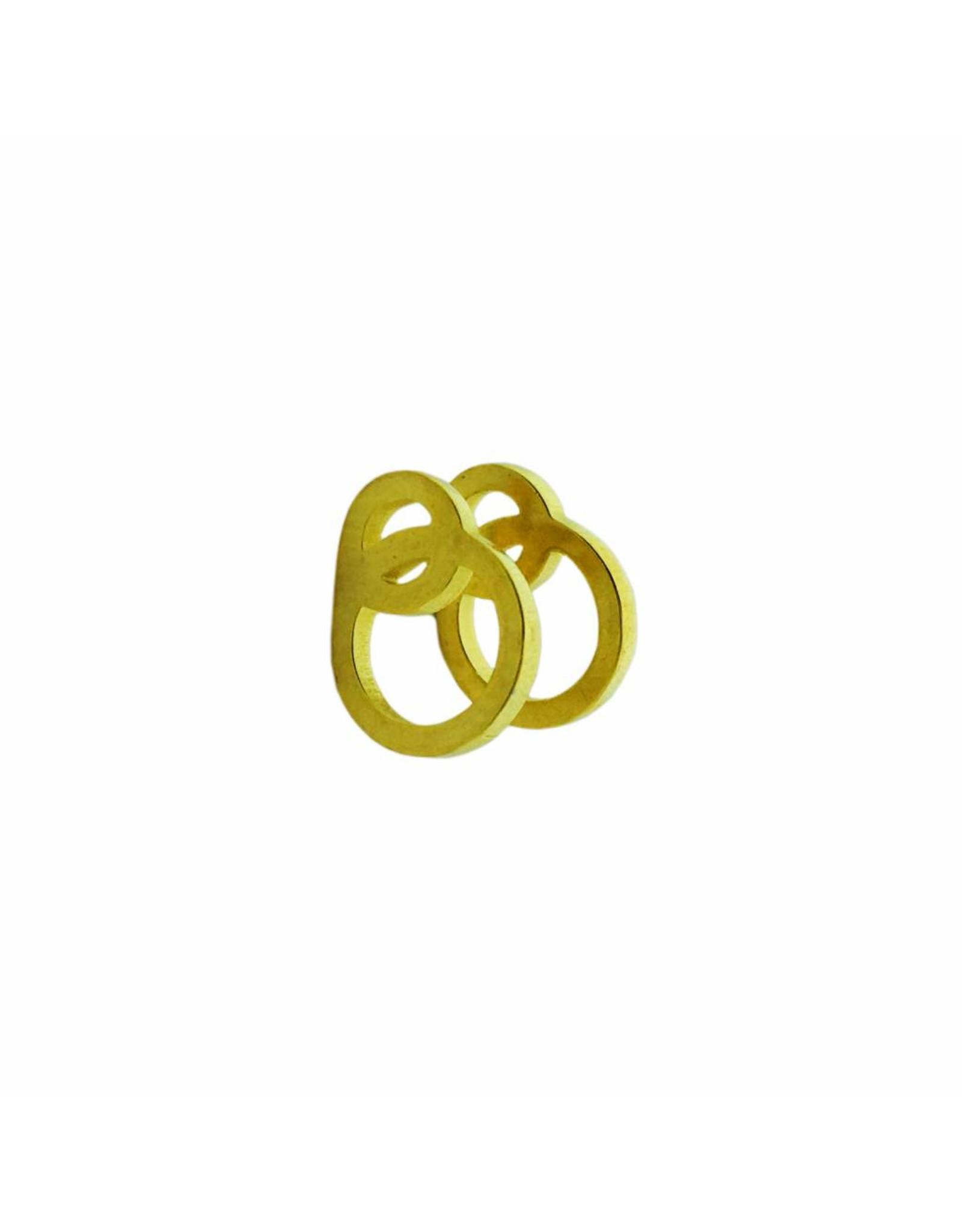 Stekertjes 3D cirkels goudkleurig
