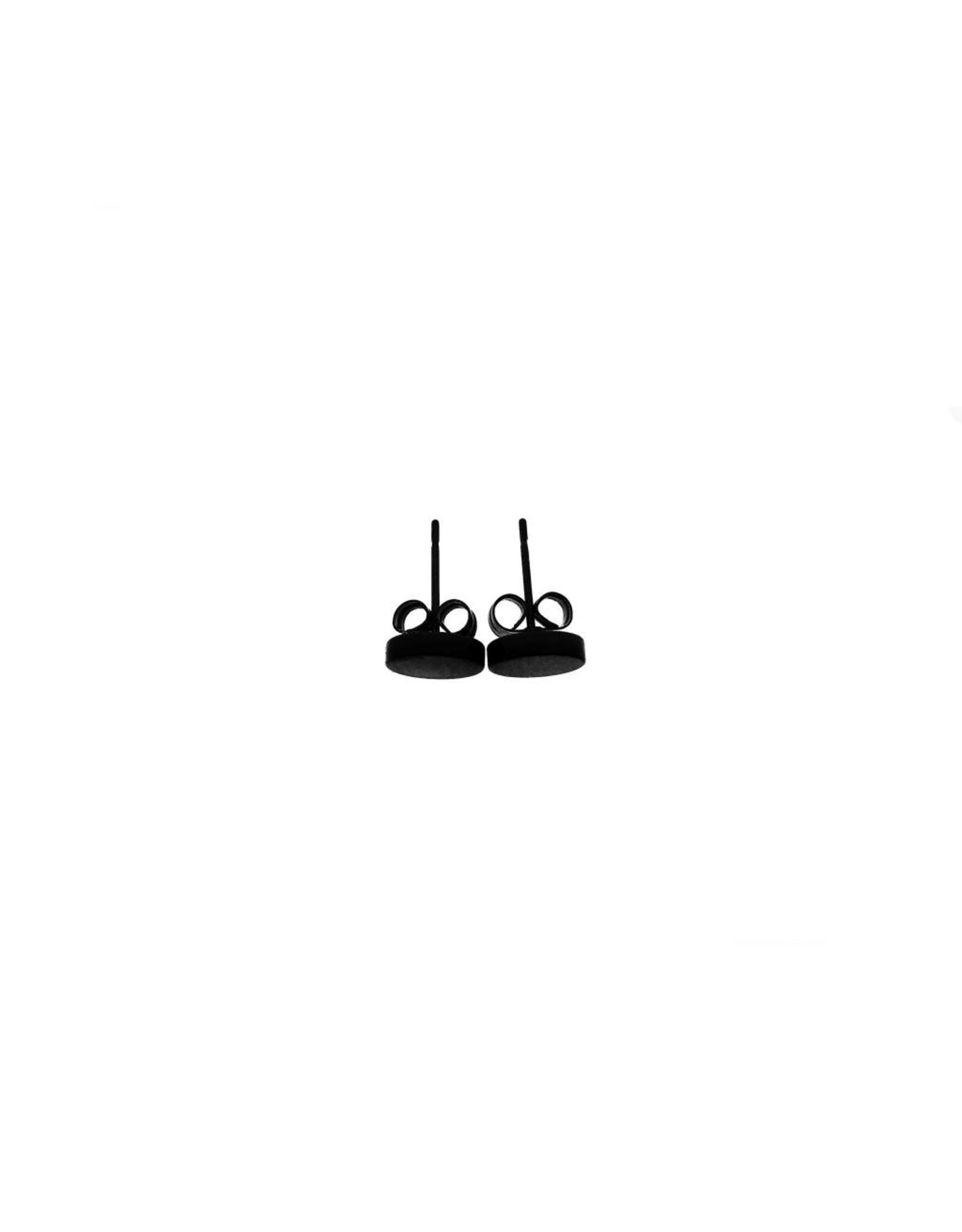 Stekertjes zwart cirkel 8mm