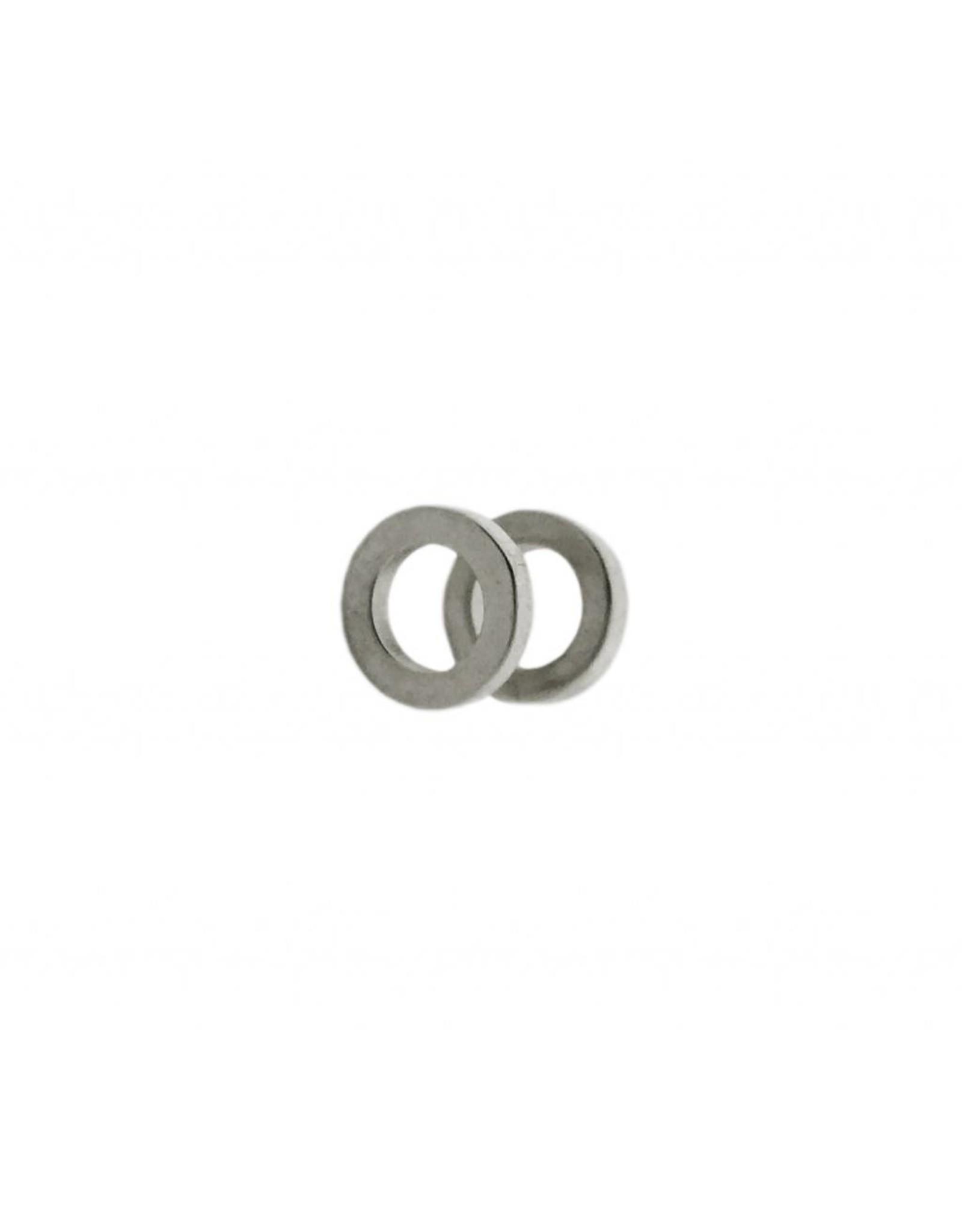 Stekertjes 3D cirkel zilverkleurig
