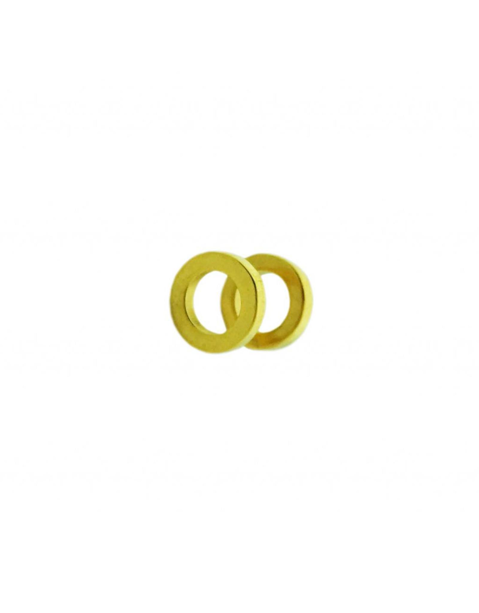 Stekertjes 3D cirkel goudkleurig