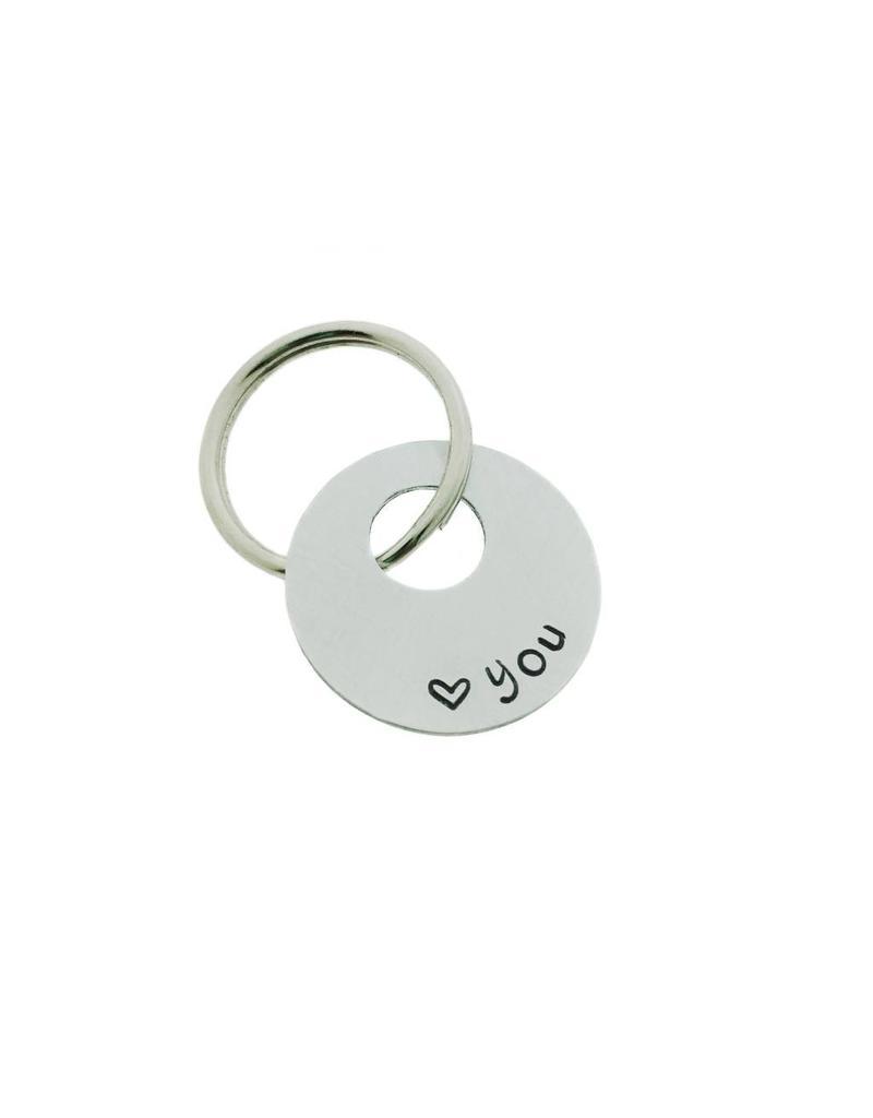 ALU sleutelhanger open rondje 22mm