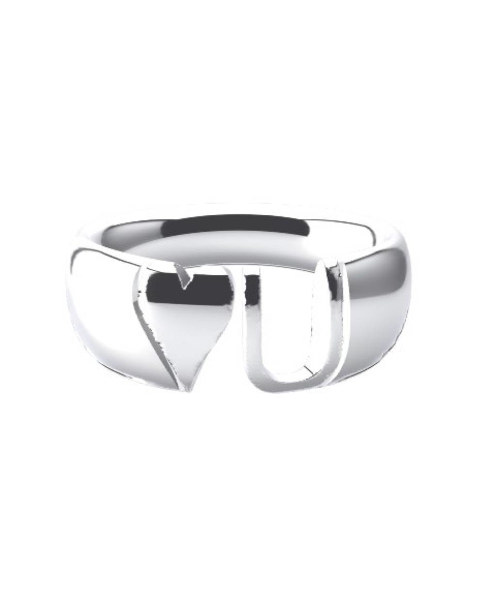 Initial blend ring 925 zilver