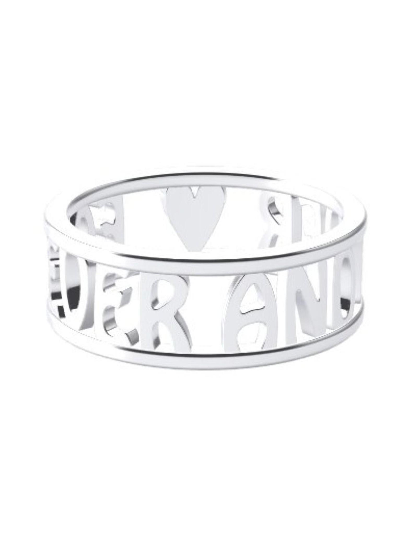 Open ring 925 zilver