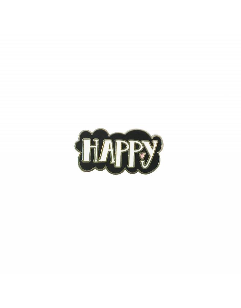 Pin happy zwart