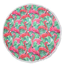 Handdoek rond flamingo jungle