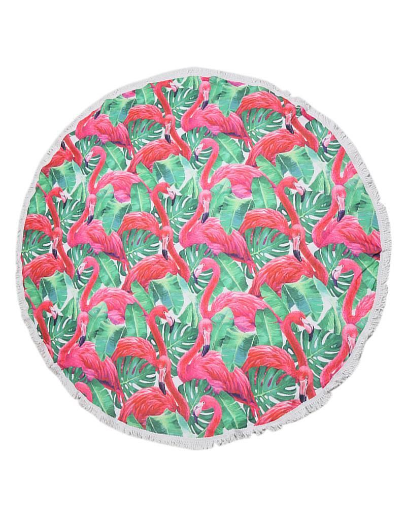 Handdoek rond flamingo jungle
