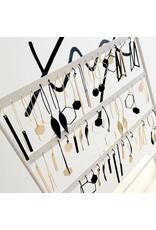 oorbEllen mix&match zeshoek mat zwart korte hanger goud