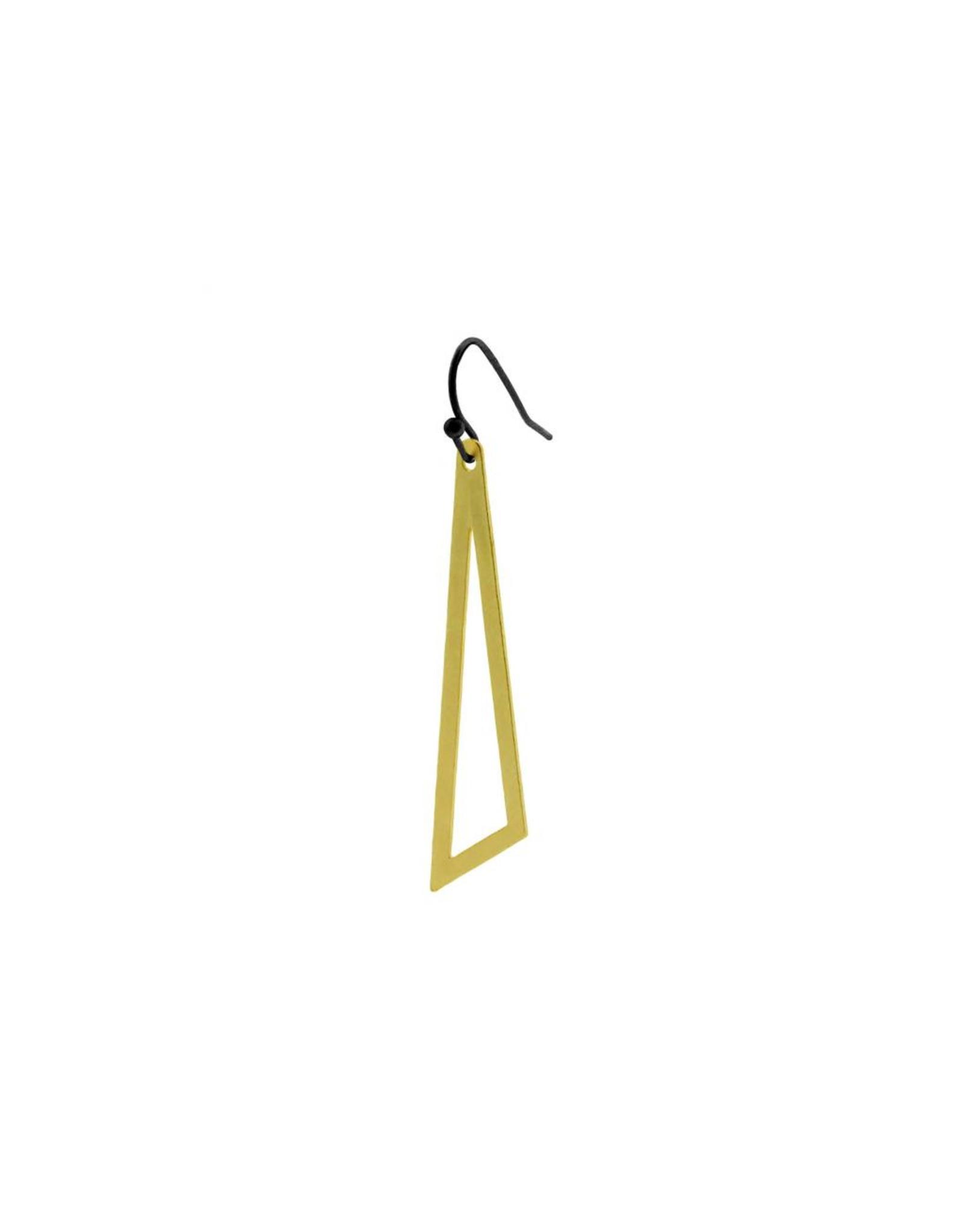 oorbEllen mix&match driehoek mat goud haakje zwart