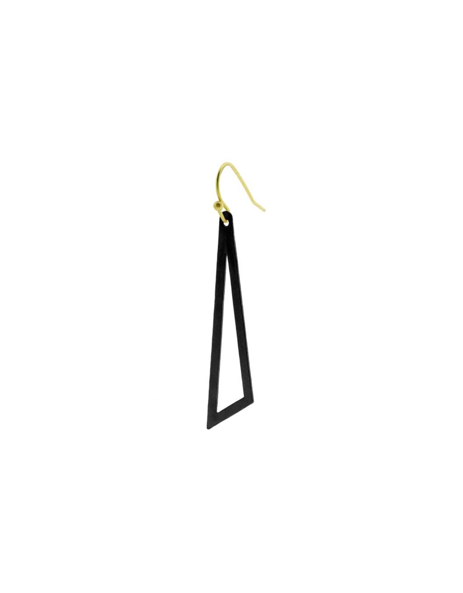 oorbEllen mix&match driehoek mat zwart haakje goud